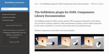 SoftRobots plugin documentation